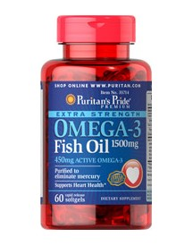 Extra Strength Omega-3 Fish Oil 1500 Mg (450 Mg Active Omega-3) afbeelding