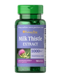 Milk Thistle 4:1 Extract 1000mg (silymarin) afbeelding