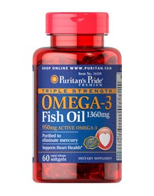 Triple Strength Omega-3 Fish Oil 1360 Mg (950 Mg Active Omega-3) afbeelding