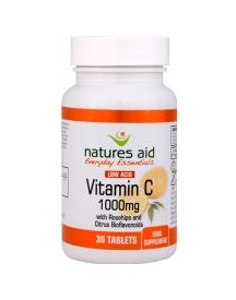 Vitamin C 1000mg - Low Acid - Natures Aid - 30 Tabletten afbeelding