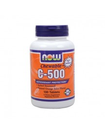 C-500 Chewable Orange - Now - 100 Tabletten afbeelding