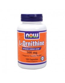 L-ornithine - Now - 120 Capsules afbeelding