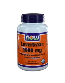 Levertraan 1000 Mg - Now - 90 Softgels afbeelding