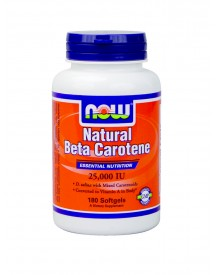 Natural Beta Carotene - Now - 180 Softgels afbeelding