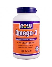 Omega 3 Fish Oil - Now - 200 Softgels afbeelding