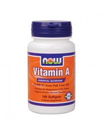Vitamin A 25000iu - Now - 100 Softgels afbeelding