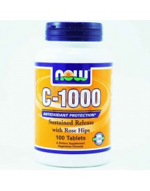 C-1000 With Rose Hips, Sustained Release - Now - 100 Tabletten afbeelding