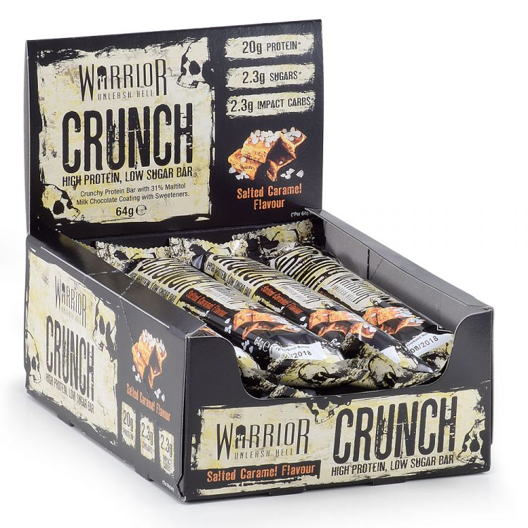 Image Warrior - Crunch Protein Bars 12 Bars Salted Caramel