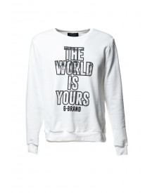 G-brand Sweater The World Is Yours White afbeelding