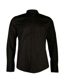 8mm. Hemd Lm Uni Stretch Shirts afbeelding