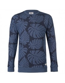 8mm. Leaf Allover Quilted Sweat Truien afbeelding