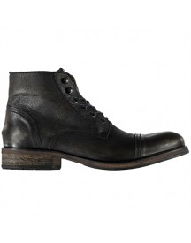 Hilfiger Denim Dillan 4a 4-eye Brushed Leather Boot Check Lining Schoenen afbeelding