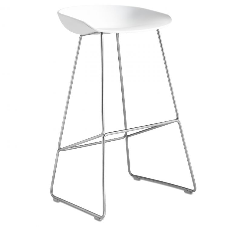 Image Hay About A Stool Aas38 Barkruk Stalen Onderstel Wit 65 Cm