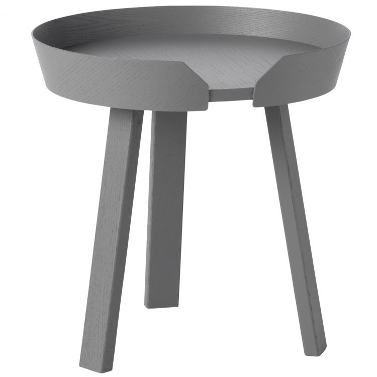 Image Muuto Around Coffee Salontafel Small Donkergrijs 45