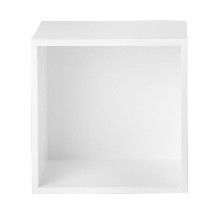 Image Muuto Stacked Kast Met Backboard Medium Wit