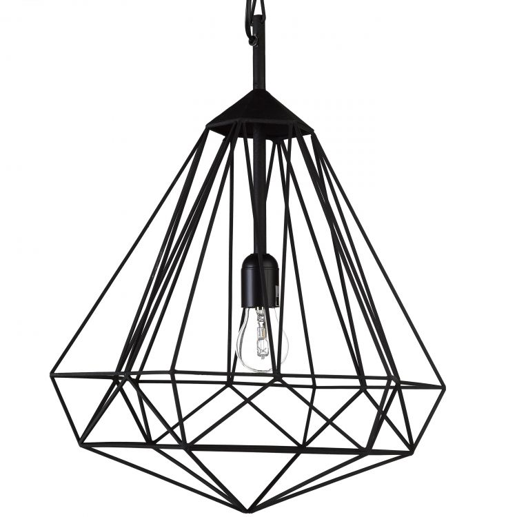 Image Pols Potten Diamond Hanglamp Medium Zwart
