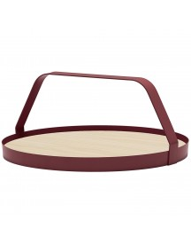 Design On Stock Waiter Dienblad Ash Natural Burgundy afbeelding