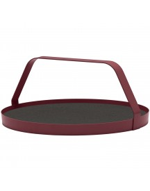 Design On Stock Waiter Dienblad Cork Dim Burgundy afbeelding