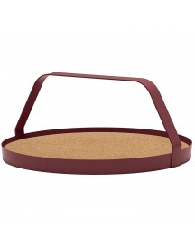 Design On Stock Waiter Dienblad Cork Natural Burgundy afbeelding