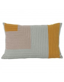 Ferm Living Angle Knit Kussen 60x40 Curry afbeelding