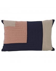 Ferm Living Angle Knit Kussen 60x40 Donkerblauw afbeelding