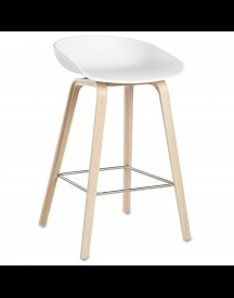 Hay About A Stool Aas32 Design Barkruk 65 Cm Wit - Eiken afbeelding