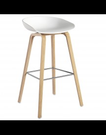 Hay About A Stool Aas32 Design Barkruk 75 Cm Wit - Eiken afbeelding