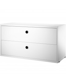 String Cabinet With Two Drawers 78 X 30 X 42 Cm afbeelding