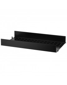 String Metal Shelf High Edge 58x30 1-pack Zwart afbeelding