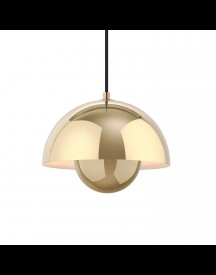 &tradition Flowerpot Hanglamp Polished Brass afbeelding