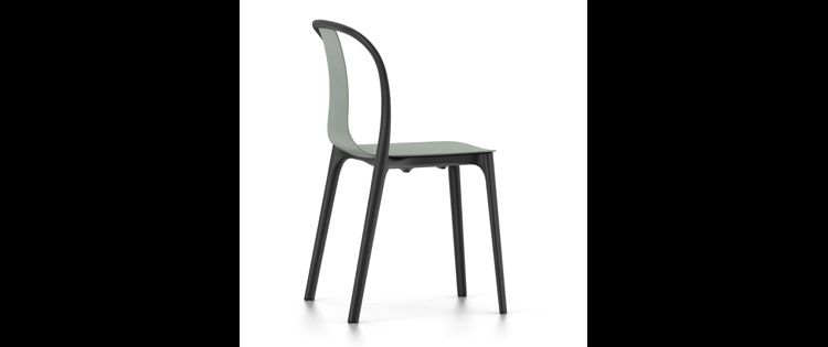 Image Vitra Belleville Chair Stoel Moss Grey