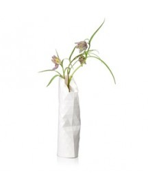 Paper Vase Cover Small Wit afbeelding