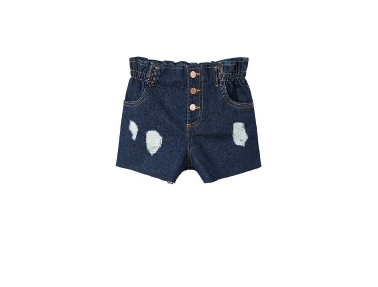 Image Denim Shorts Met Decoratieve Scheuren