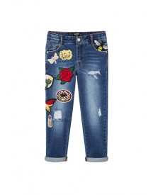 Slim-fit Jeans Met Patches afbeelding