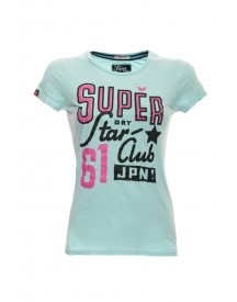 Superdry T-shirt Star Club Baby Blue afbeelding