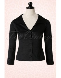 50s Beautiful People Shirt In Black afbeelding