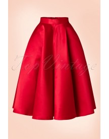 50s Grace Swing Skirt In Red afbeelding