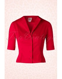 50s Gretta Top In Red afbeelding