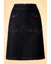 60s Brenda Skirt In Denim afbeelding