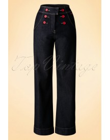 60s Farrah Trousers In Denim afbeelding