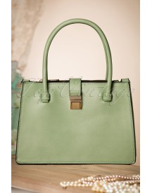 40s Classy Glorie Handbag In Antique Green afbeelding