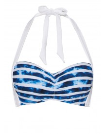 Seafolly Inked Stripe Halter Push-up Bikinitop afbeelding