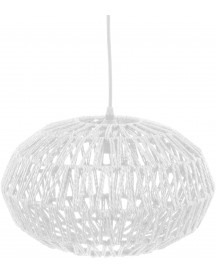 Paper Rope Hanglamp Ovaal Wit - Leitmotiv afbeelding