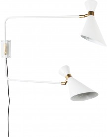 Double Shady Wandlamp Wit - Zuiver afbeelding