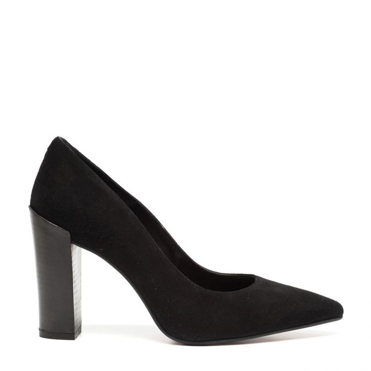Image Black Label Zwarte Leren Pumps