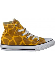 Gele Converse Sneakers As Animal Print afbeelding