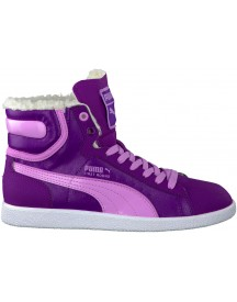 Paarse Puma Sneakers First Round Fur Jr afbeelding