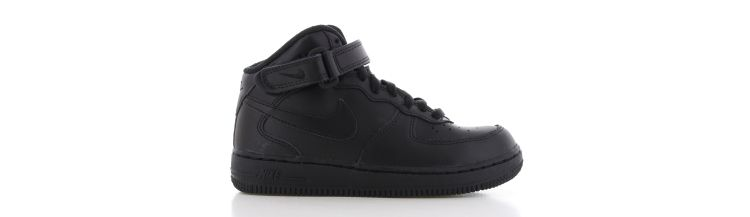 Image Nike Air Force 1 Mid Zwart Kids