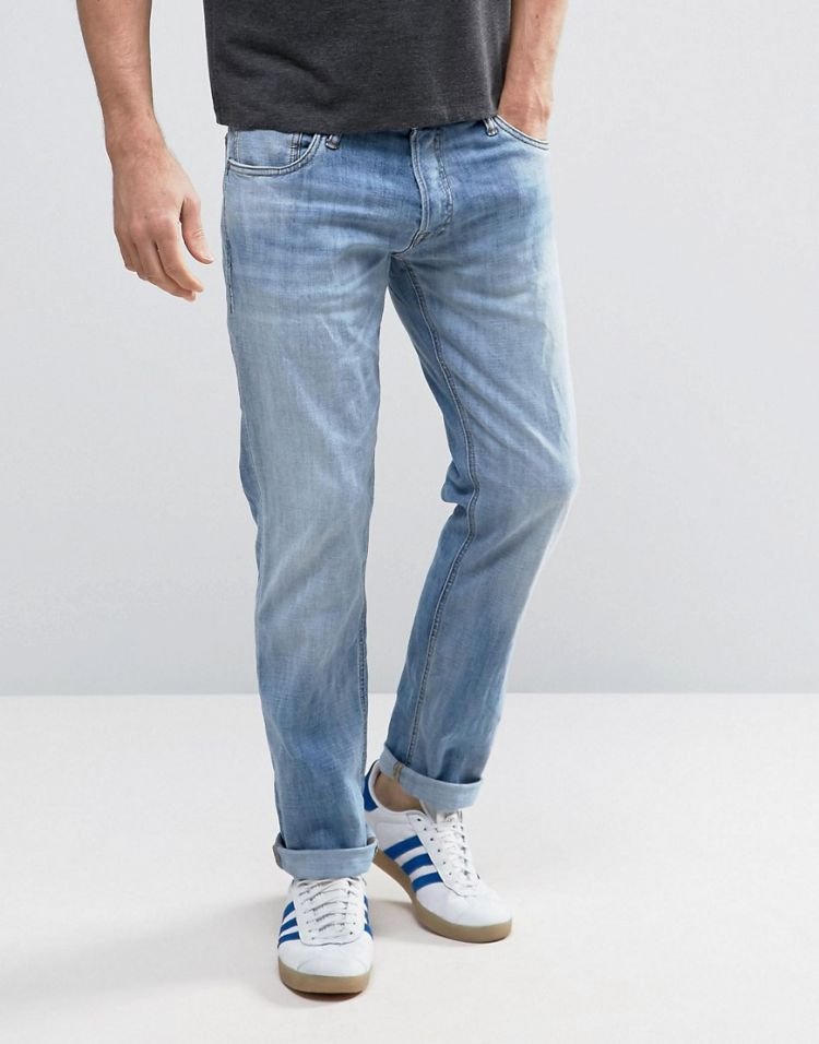 Image Jack & Jones Intelligence Jeans In Slim Fit Washed Denim