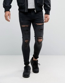 11 Degrees Super Skinny Jeans With Distressing afbeelding